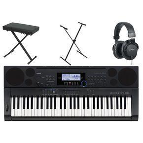 CasioCTK-6000 61-Key Portable Pianow/ Stand, Bench, & Headphones