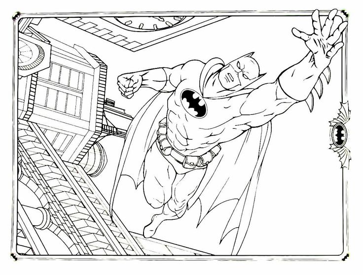 Batman Coloring Book Printable Page