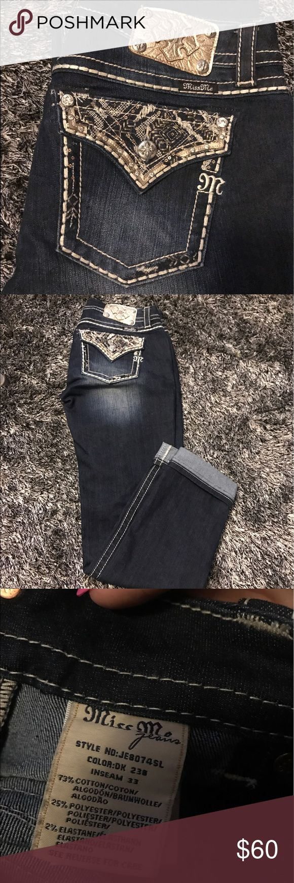 MISS MES Signature rise- skinny miss mes. Size 30. Worn only a handful of times Miss Me Jeans Skinny