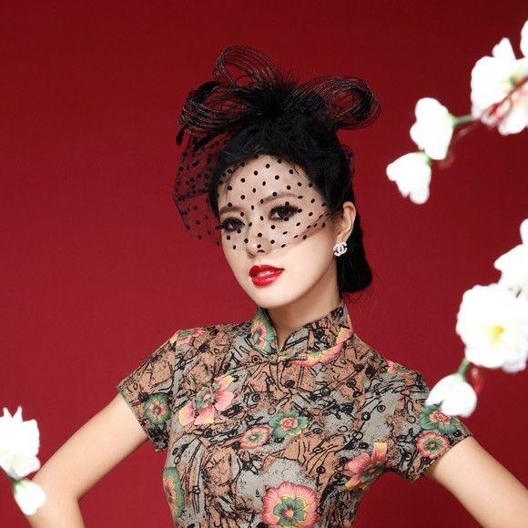 Pas cher Mode Mini Teardrop Fascinateur Chapeau De Fête Vintage Polka Birdcage Voile Plume Maille Fascinateur Cocktail De Mariage Chapeaux(China (Mainland))