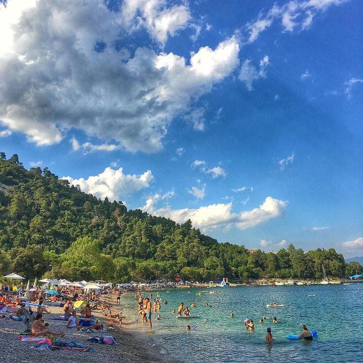 Giorno 14: arrivati vicino #fiume ci riposiamo un po'!  #happylittlecaravan #sea #sky #relax #hrvatska #croazia #clouds