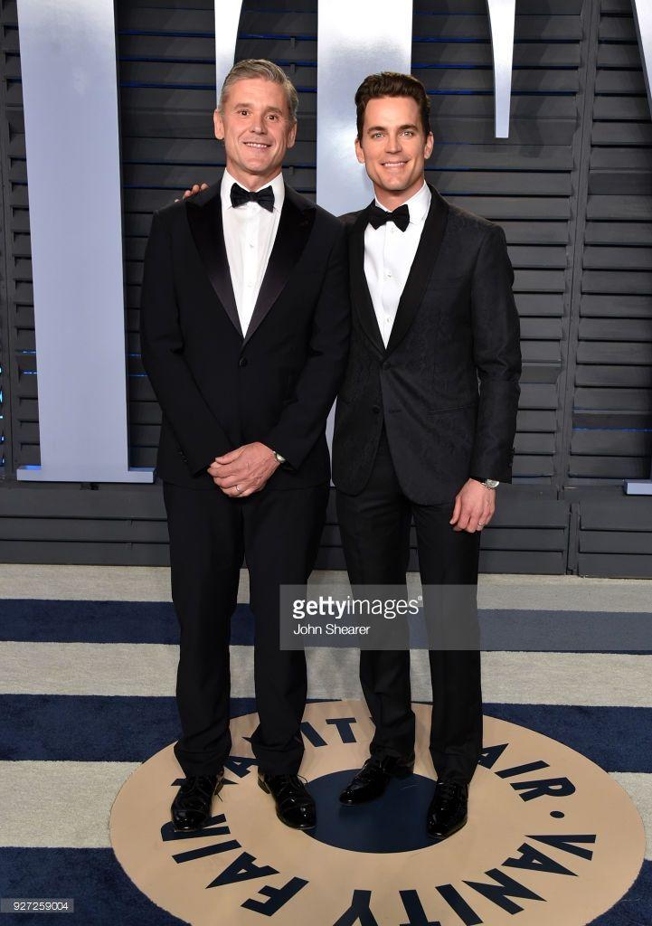 Simon Halls and actor Matt Bomer attend the 2018 Vanity Fair Party.
