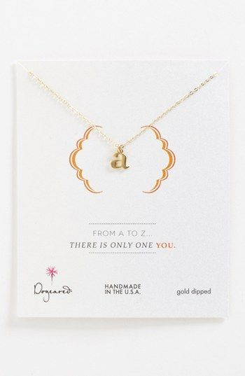 Dogeared 'From A to Z' Initial Pendant Necklace available at #Nordstrom $62.00