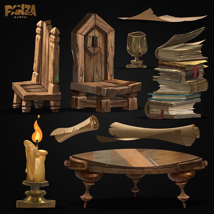 Game Assets, Panza Games on ArtStation at https://www.artstation.com/artwork/o0WNL
