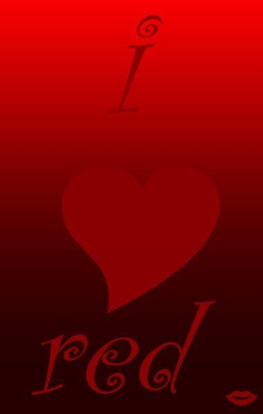 i ♥ red _LOVE #color #heart #hue #pula