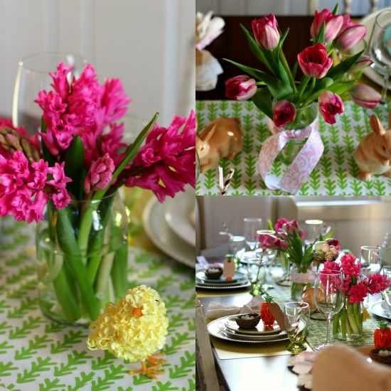 A bright and cheery Easter tablescape with lots of pattern and color!: Pattern, Color, Happy, Cheery Easter, Easter Tablescapes, Holidays, High Heels, Hot Wheels