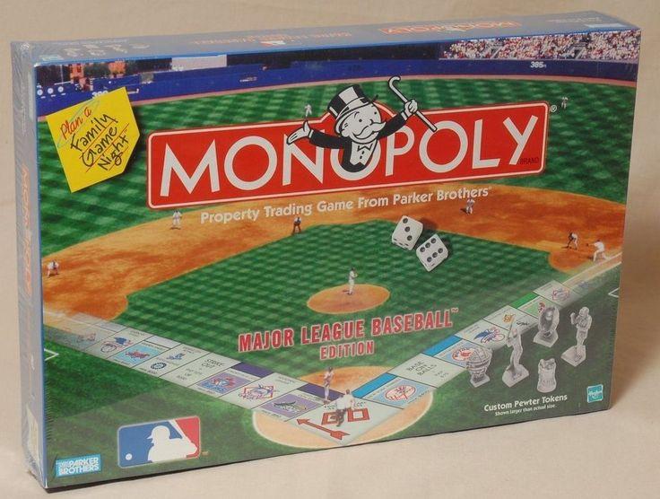 Monopoly Board Game Major League Baseball Edition Custom