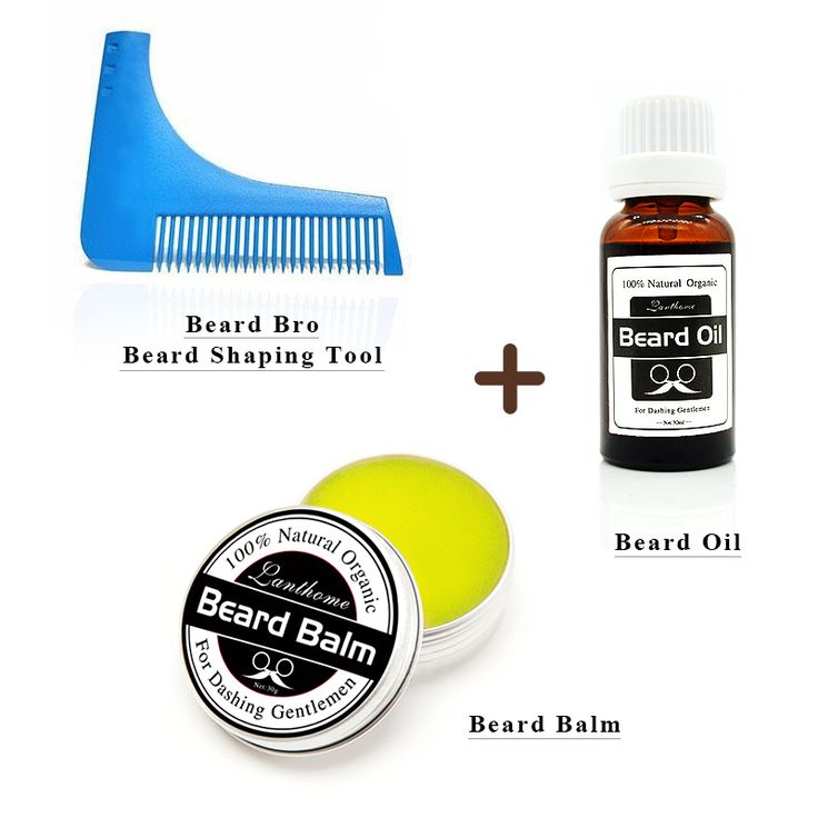 Lanthome Natural Beard Oil plus beard fresh moisturing care wax balm Organic Beard Conditioner With Beard Shaping Comb