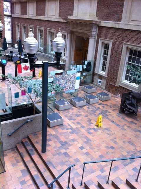 A little more context for where to find CATALYSTS in the atrium of Rutherford Library at the University of Alberta.
