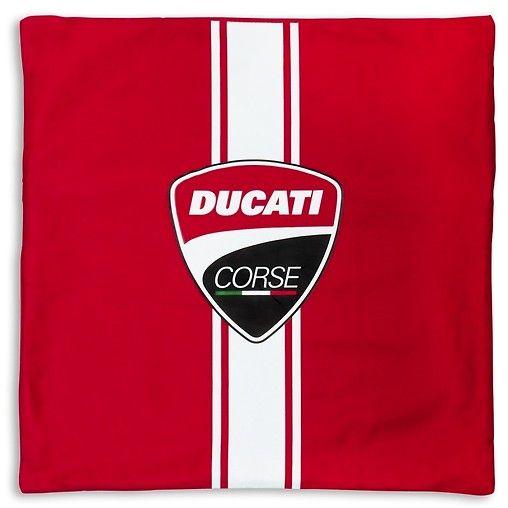 Ubierz swoją poduszkę w 100% bawełnianą poszewkę z logo marki Ducati. Zapinana na zamek (można ją prać). #ducati