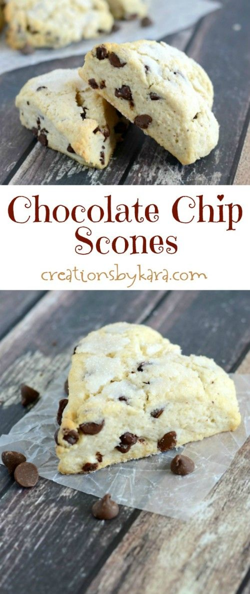 These Chocolate Chip Scones are easy to make, and so delicious!