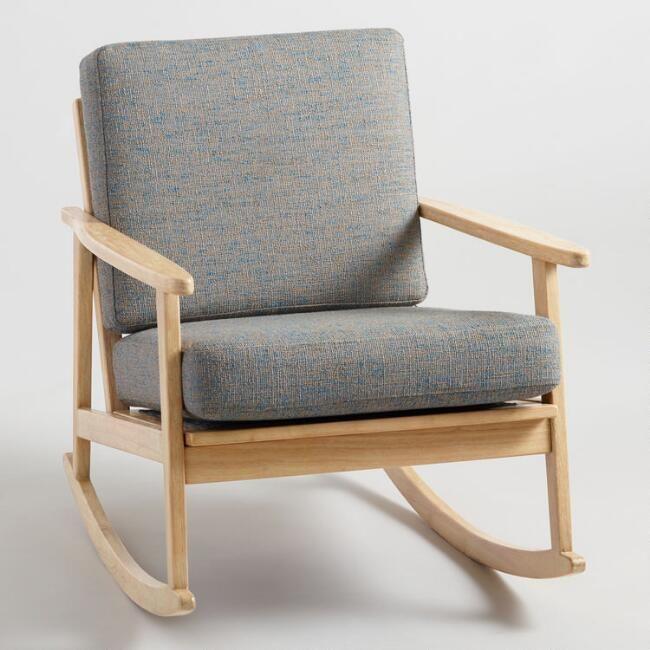 Gray Flecked Xander Rocking Chair Rocking Chair White Wooden Rocking Chair Rocking Armchair