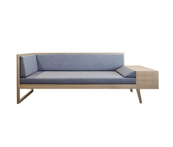 Sofa 'Sophie' brings together many functions in a single piece of furniture: it's a sofa for sitting, putting your feet up and having a comfortable lie-down, as well as having a little table and…