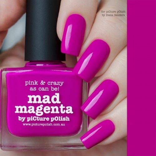piCture pOlish : Picture Polish Mad Magenta Shop here- www.color4nails.com Worldwide shipping available