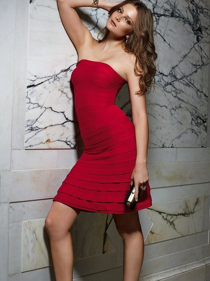 Victoria s secret strapless red dress