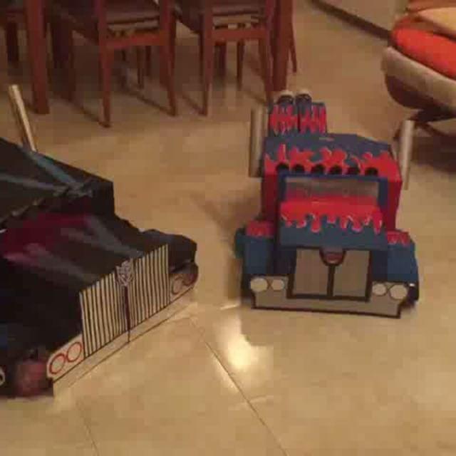 Disfraces Transformers!!! Optimus Prime y Nemesis Prime #disfrazdiy #disfraz #transformers #conestasmanitas #mamidecoraymas #diy