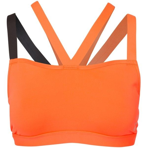 Reebok Performance C Short Bra ($29) ❤ liked on Polyvore featuring activewear, sports bras, red, sports fashion, womens-fashion, orange sports bra, reebok, sports bra, reebok activewear and reebok sports bra