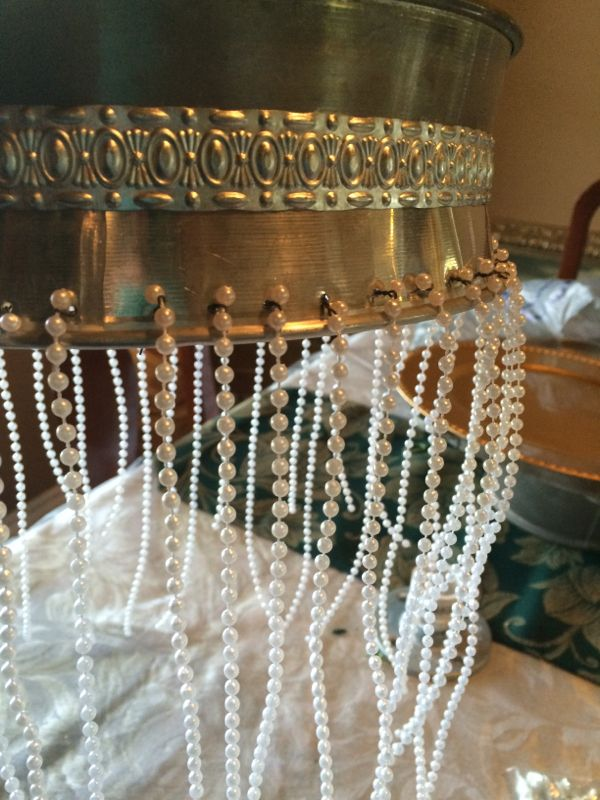 Diy chandelier centerpiece riser chandeliers hanging