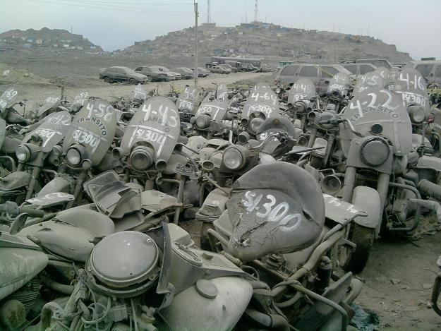 Very Sad, HD Police Bike Graveyard.