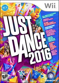 Just Dance 2016  http://www.amazon.com/Just-Dance-2016-Wii-Nintendo/dp/B00ZE360GG/ref=sr_1_1?s=videogames&ie=UTF8&qid=1451272348&sr=1-1&keywords=just+dance+2016
