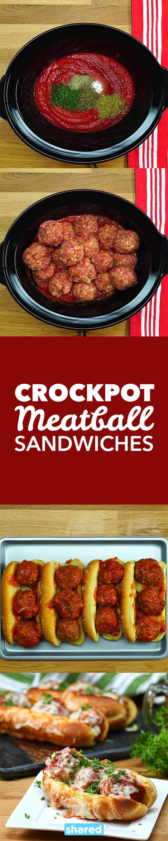Crockpot Meatball Sandwiches
