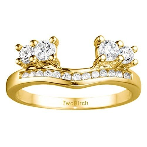 Diamond Solitaire Anniversary Ring Wrap Enhancer mounted in 14k Gold (0.73 ct twt.) Diamonds G-H I2-I3 by Best Sellers