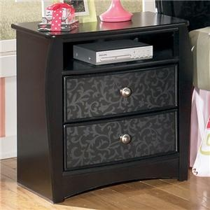 Enchanted Glade Charming Two Drawer Night Stand by Signature Design by Ashley - Red Tag Furniture - Night Stand