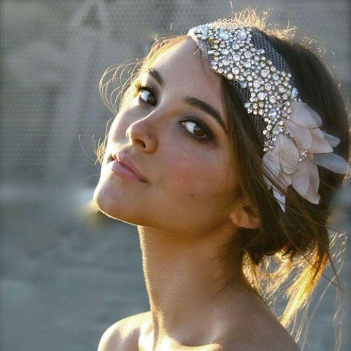 Acessório de cabelo para as noivas - Headband com brilho, beleza de noiva, penteado de noiva, maquiagem de noiva, acessório de noiva, blog de casamento,