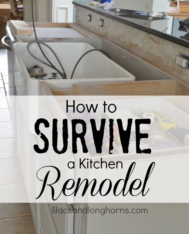 Remodels are stressful!  Find out How to Survive a Kitchen Remodel with these 10 tips