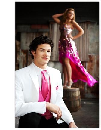 White Tux, Pink Tie