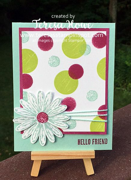 Stampin' Up! SU! Daisy Delight, Wood Words, Bokeh, #GDP093