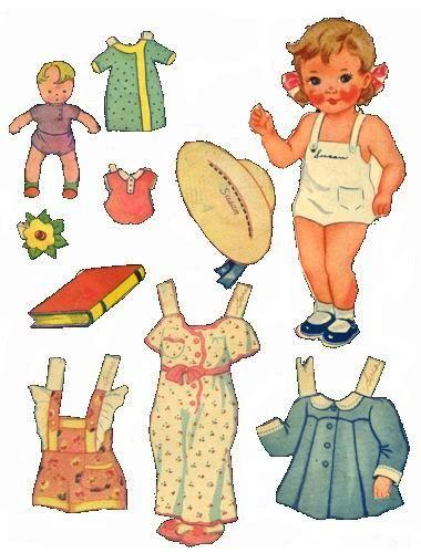(⑅ ॣ•͈ᴗ•͈ ॣ)♡ ✄Bonecas de Papel: Bebes Vintage