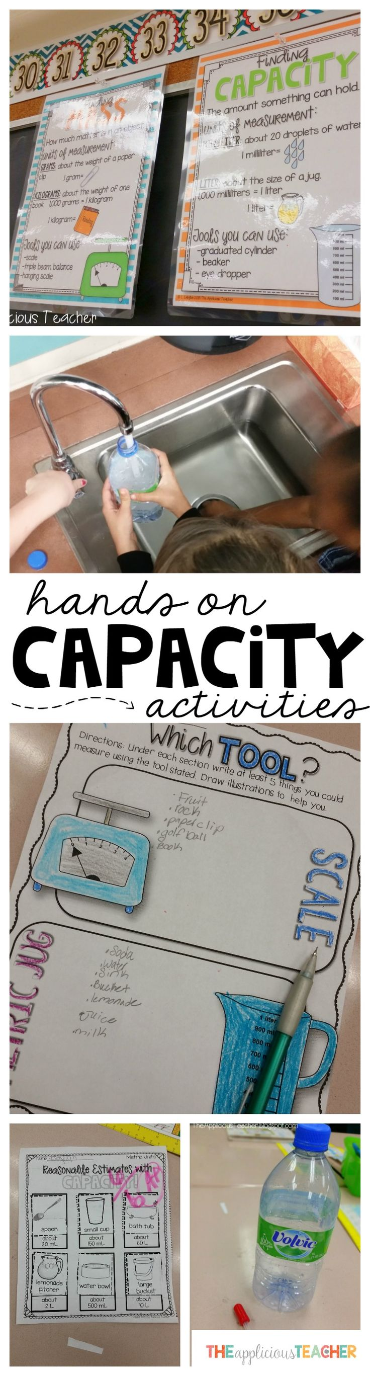 Great ideas for teaching capacity using hands on approaches! Love the quick printables that she used to assess the students along the way! Super easy, fun, and engaging!