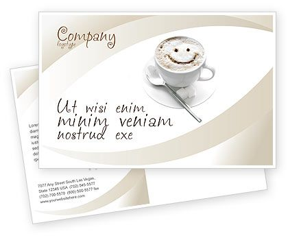This is a Postcard Template #03298 for cafes, internet cafes, menus, coffee, etc. http://www.poweredtemplate.com/brochure-templates/food-beverage/postcards/03298/0/index.html
