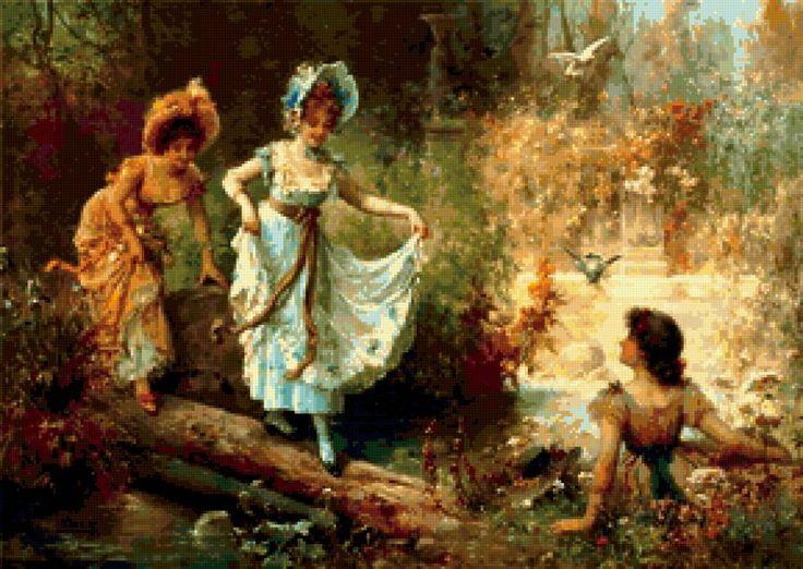 ретро девушки - Схемы вышивки - viktoria0808 - Авторы - Портал «Вышивка крестом»