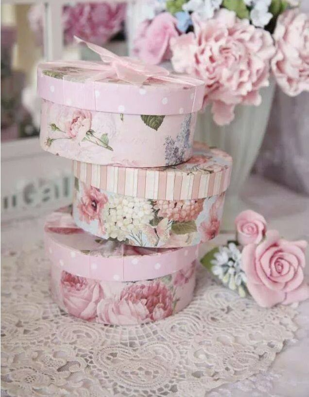 Pretty storage boxes.