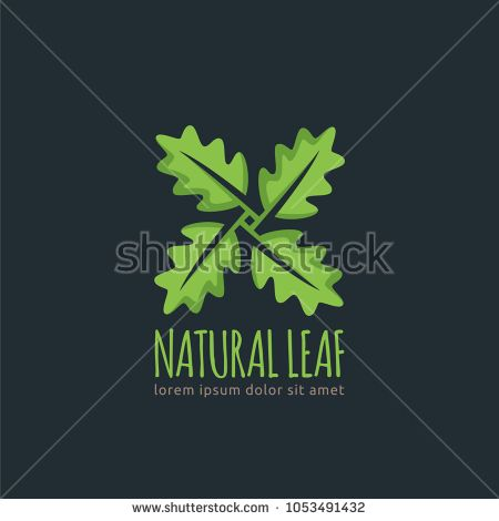 Natural Leaf, Leaf logo template in vector format, easy to customize,