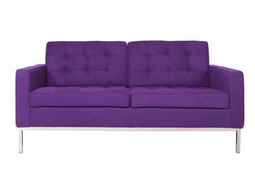 Kardiel Florence Knoll Style Sofa 3 Seat Black Aniline Premium Leather