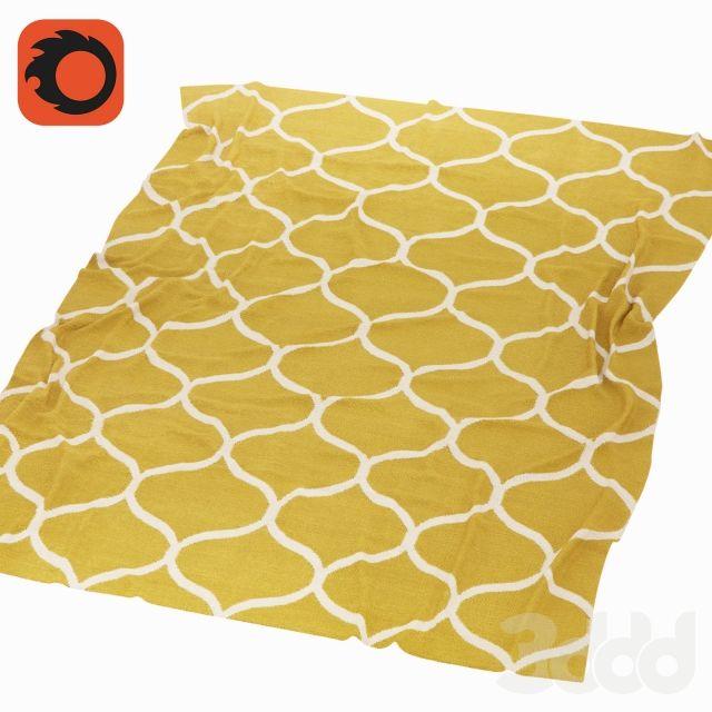 Ковер Стокгольм / Stockholm Ikea, желтый, коричневый
