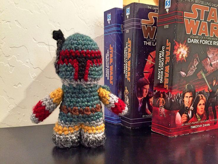Boba Fett Crochet Doll - Boba Fett Plush - Star Wars Boba Fett Plush - Boba Fett Amigurumi by 3rdHousefromtheend on Etsy https://www.etsy.com/listing/250297466/boba-fett-crochet-doll-boba-fett-plush