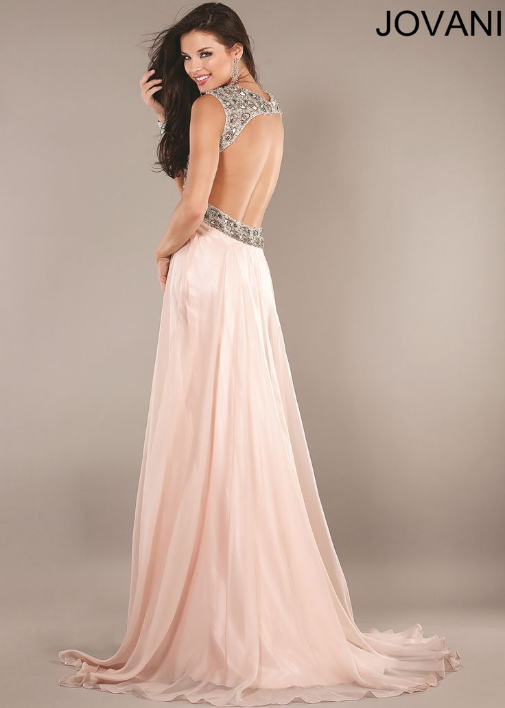 Blush colored wedding gowns blush halter evening gown for Halter wedding dresses with color