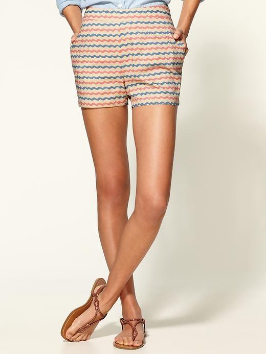 zig zag shorts: Patterns Shorts, Dreams Closet, Zag Shorts, Stripes Buttons, Buttons Shorts, Summer Shorts, High Waist Shorts, Tulle Shorts, Stripes Shorts