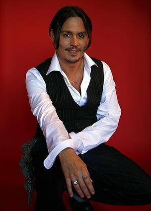 JOHNNY DEPP, such a gorgeous smile when he does smile ♡