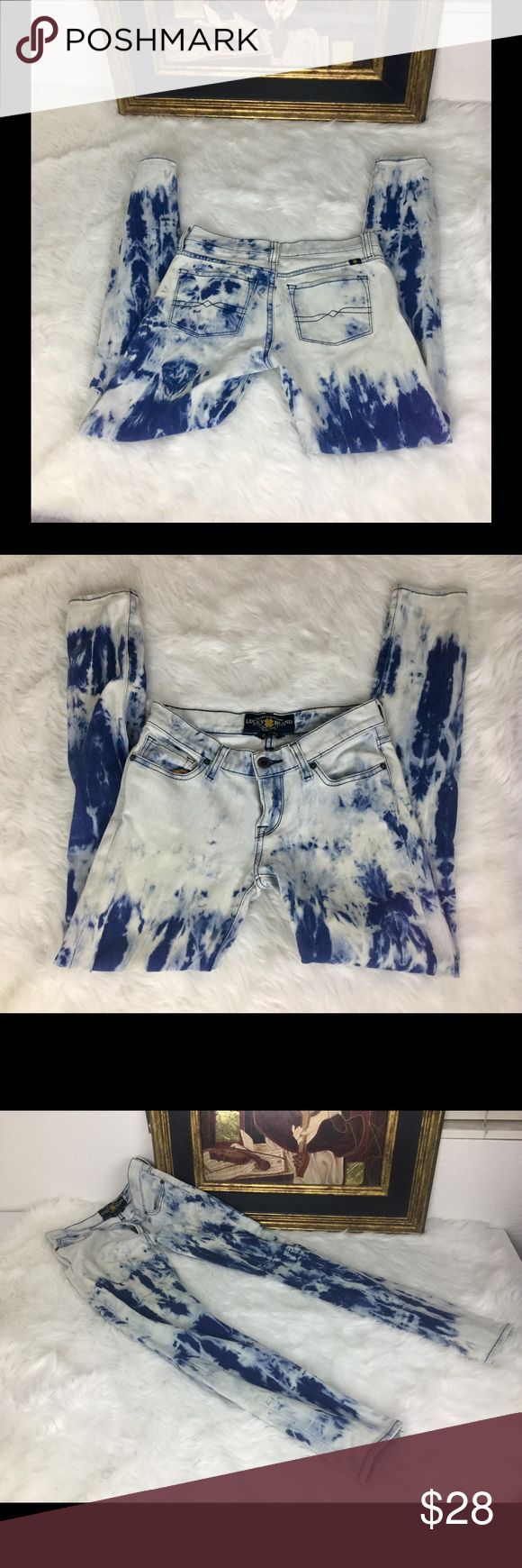 """🆕Listing. Lucky Brand Tie Dye Jeans.  Sz 25 Check out these cool Lucky Brand Jeans.  Sz 25. Waist 12.5"""". Inseam 27"""". Rise 7"""". In good condition. Lucky Brand Jeans Skinny"""