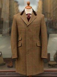 Bladen Gunthorp Brown Herringbone Tweed Coat