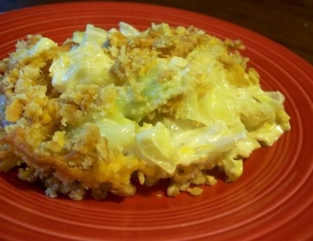 Awesome Cabbage Casserole from Food.com:   								This recipe is a dish that my sister-n-law brought to a Christmas gathering. It was such at hit that she had to give us all the recipe!