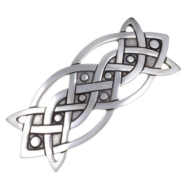 St Justin Celtic Oblong Hairslide in Jewellery & Watches, Costume Jewellery, Earrings | eBay