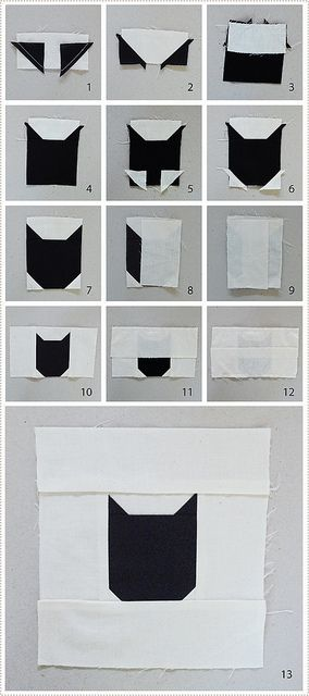 catquilt4 by mer mag, via Flickr http://www.ohfransson.com/oh_fransson/2013/11/making-a-basic-cat-block.html