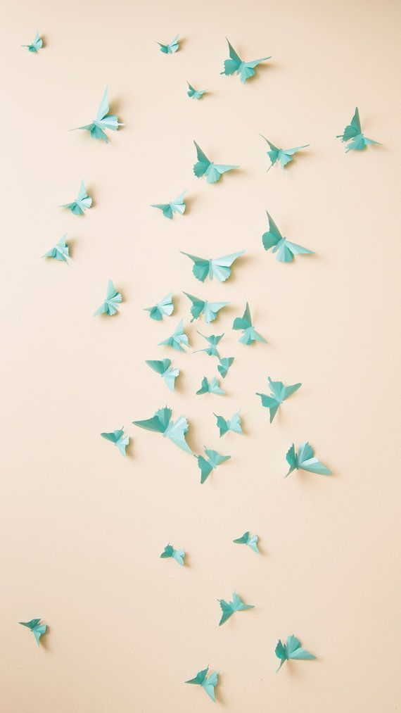 3D Butterfly Wall Decals by hipandclavicle on Etsy