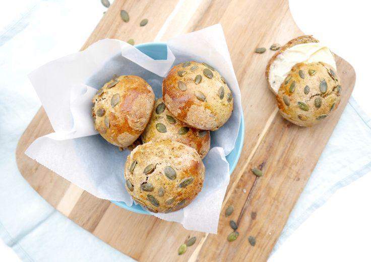 Healthy baksel: Pompoenbroodjes